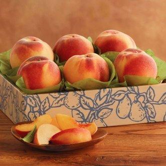 Коробочка с персиками